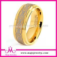 Hot sale tungsten carbide ring elegant mens tungsten wedding ring