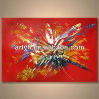 Popular handmade home decor China manufacturer canvas art