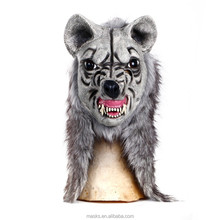 High quality Eco-Friendly Latex Realistic Wolf Mask for Carnival and Halloween Bar Props Party Mask Factory Price 3Colors