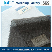 China 100% polyester fusible knitted 4 way stretch fabric tricot knitted fusible interlining(5100) With SGS