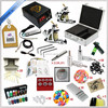 Professional Complete 2 tattoo machines Tattoo kit with inks power supply