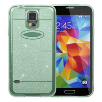 Hot Sell Custom Bling Glitter Soft TPU Gel Case For Galaxy S4