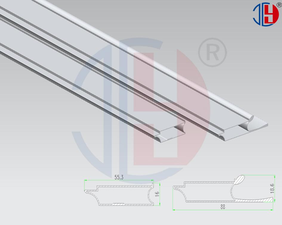 D Coratif En Verre En Aluminium Cadre Profil Pour Porte De