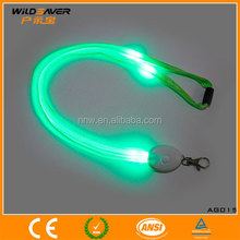 ID card holder lanyard with flashing led lights