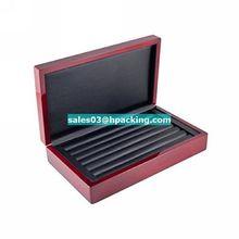 Cherry Lacquer Cufflink Case & Ring Storage Case Organizer Men's Jewelry Box for Cufflinks