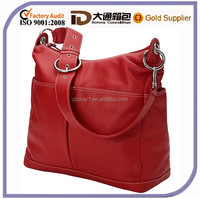 Genuine Cow Leather Fashion Mummy Baby Diaper Bag High Quality Leather Shoulder Tote Lady Handbag Bag