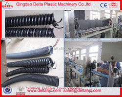 PVC plastic rib soft and hard PVC spiral reinforced hose making machine