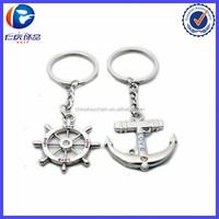2015 New Metal Nautical Steering Wheel Anchor Charms Love Key Ring
