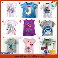2015 New design children summer kids girls t shirt for 100% strench cotton t shirt wholesale China baby t shirt (Ulik-T15)
