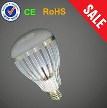 Crown Silver Base High Bright S bulb shaped led keychain light