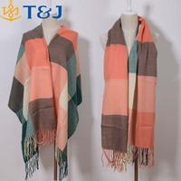 >>>Hot Sale Long Tassels Colorful Plaid Fashion Cashmere Woven Warm Scarfs Pashmina Winter Shawls For Women/