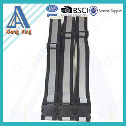 Elastic luggage belt with reflective strip