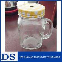 Cam yoğurt jar mason/açık kapaklı konteyner