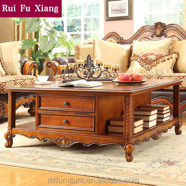 British rural style living room square coffee table in the for P square living room