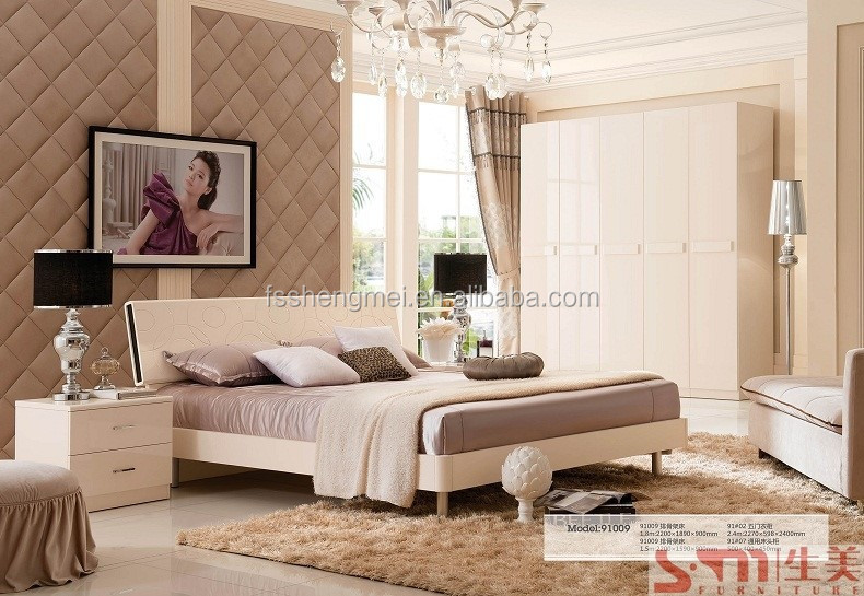 adult gloss painting modern white lacquer bedroom