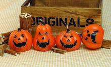 Cute home decoration halloween pumpkin shape art candle