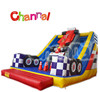 Fashionable commercial inflatable car slide decorated with car for kids