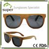 New Retro Stylish Bamboo and Wood glasses , 100% UV400 Polarized Sunglasses Black Walnut