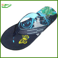 Sandals and sleepers with butterfly printing