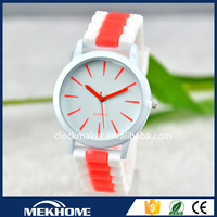 2015 popular and hot selling wrist watch silicone watch delicate bracelet watch lady