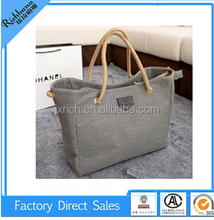 new fashion elegant lady's bag blank tote bag for wholesale