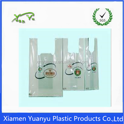 Good quality HDPE/ LDPE poly t shirt bag/plain t-shirt shopping bags
