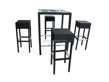 Rattan garden furniture outdoor bar table and chair