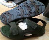 cheap surplus stocklot children green buckle up summer sandals