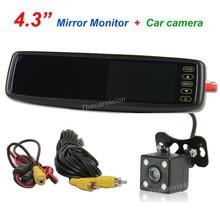 """4.3"""" specchi retrovisori per auto con telecamera per la retromarcia sistema 4 led"""