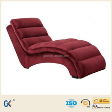 Modern living room cheap relaxing chair, comfortable chaise lounge with footrest