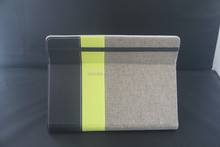 high quality textured linen constract color leather case for laptop/tablet pc
