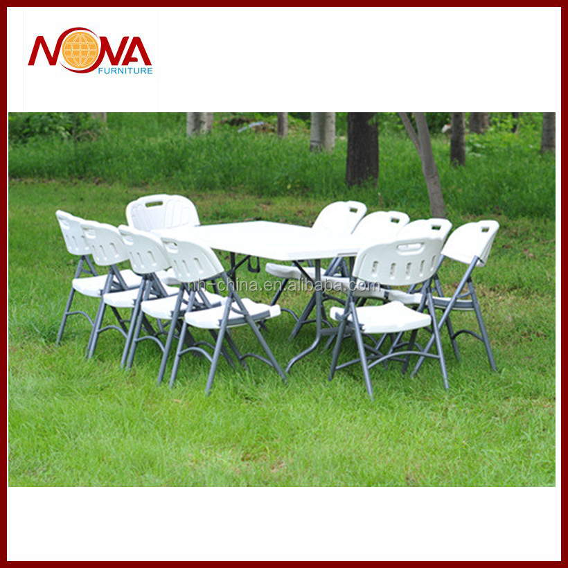 White Plastic Folding Table And Chair For Outdoor Furniture Buy White Plast