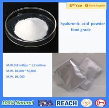 Top Grade Food/cosmetic/injection Grade Hyaluronic Acid /sodium Hyaluronate/ha Powder