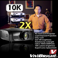 Outdoor projector,high brightness up to 10Klms,full HD resolution 1920*1200p,vivibright stock supply