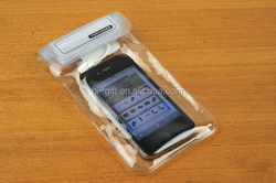 The iPhone 4 / the transparent PVC transparent bag Mobile phone waterproof bag, can be customized