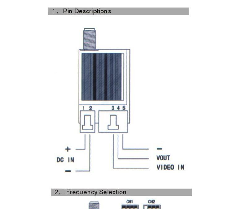 TS351 5.8ghz 200mW AV wireless video transmitter receiver.jpg