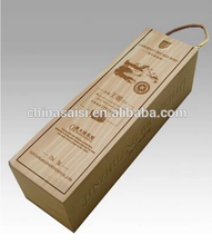 customized wood shipping boxes for wine glass bottles hot sale 2015