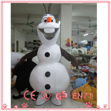 Hot sale mascot!!! HI EN71 top quality lovely movie frozen snowman olaf mascot costume for adult