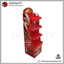promotion cardboard cakes/chocolate/cookies display stand