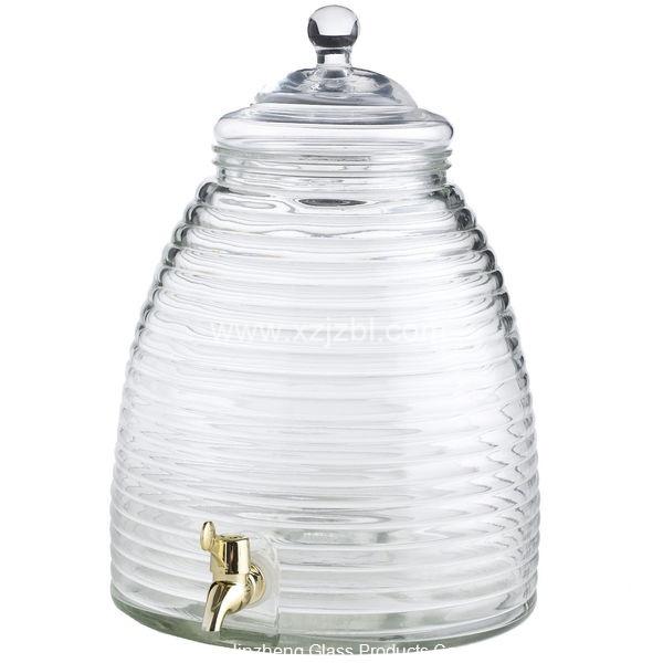 Beehive Glass Beverage Dispenser