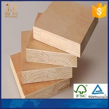 Laminated wood block board for furniture