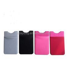 Cell Phone Pouch 3M Stick Card Money Holder smart wallet mobile card holder (lycra)