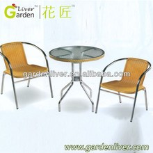 2015 new cheap round table and chair set rattan dining set wicker