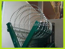 Y type airport fence with barbed wire mesh