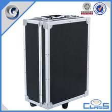 MLD-935 black aluminum flight case trolley case