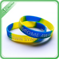 Free sample debossed thin silicone bracelet