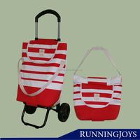 Runningjoys folding handle trolley shopping bags