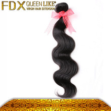 Top quality machine weft extension mixed hair weave