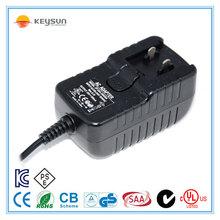12V1000mA interchangeable plug adapter/interchangeable plug adaptor 12v /12v 1000ma ac dc power supply