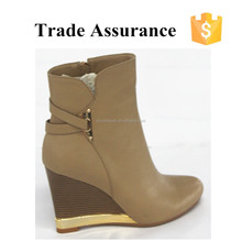 Casual Style Wedge Short Boots